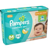 FRALDA-PAMPERS-CONFORTSEC-M-44----------