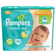 FRALDA-PAMPERS-CONFORTSEC-G-38----------