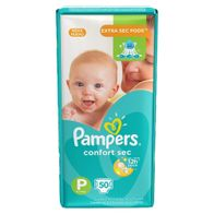 FRALDA-PAMPERS-CONFORTSEC-P-50----------